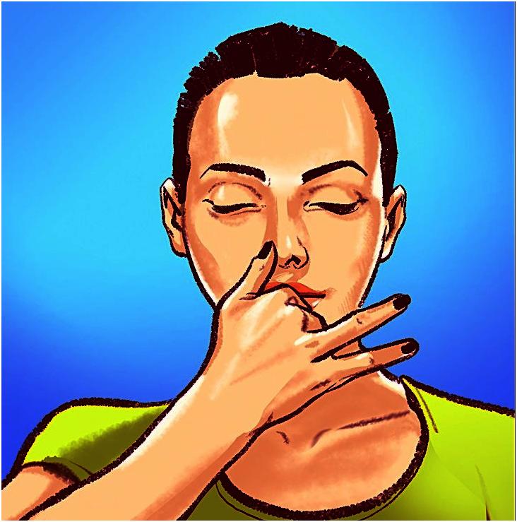 дыхание через левую ноздрю