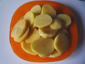 нарезка картофеля кружочками