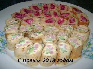 рецепт приготовления новогодних роллов