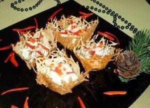 фото и рецепт сырных корзиночек с креветкамаи