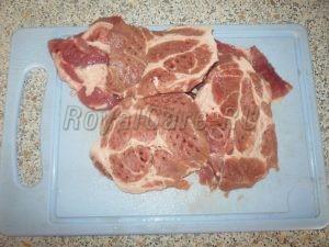 отбивная нарезанная свинина
