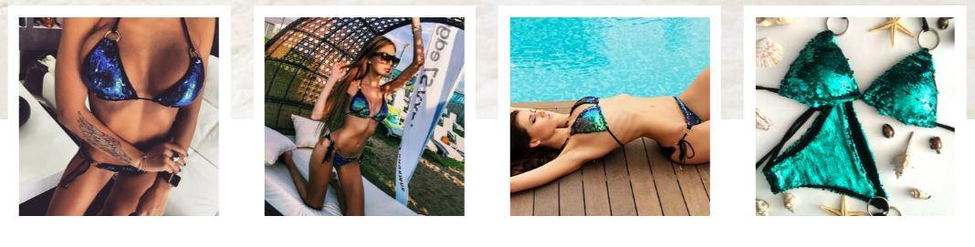 купальник с пайетками фото