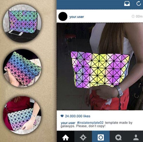 переливающаяся сумка rainbow
